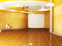 Sala criativa em cores mornas ilustração do vetor