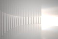 Sala curvada branco com luz brilhante ilustração royalty free