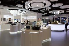 Sala d'esposizione di Canon in Hong Kong Fotografia Stock