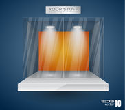 Sala d'esposizione per il prodotto con i riflettori del LED Fotografia Stock