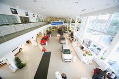 Sala d'esposizione sul primo piano del centro di Varshavka di gestione commerciale Fotografia Stock
