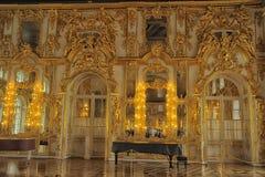 Sala da ballo Catherine Palace, San Pietroburgo Immagini Stock