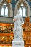 Sala da biblioteca no parlamento de Ottawa imagens de stock