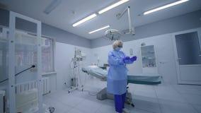 Sala da cirurgia na cirurgia video estoque