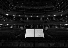 Sala da concerto Fotografie Stock