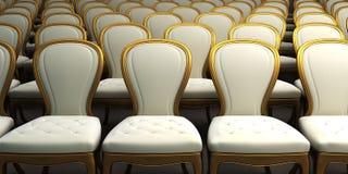 Sala da concerto con la sede bianca illustrazione di stock