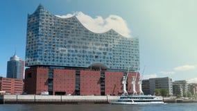 Sala da concerto di Elbphilharmonie a Amburgo fotografia stock libera da diritti