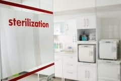 Sala da esterilização na clínica Fotos de Stock Royalty Free