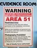 Sala da evidência, área 51 Imagem de Stock Royalty Free