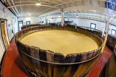 Sala da fermentação de Bourbon fotos de stock royalty free