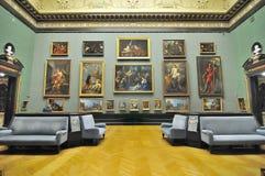 Sala da galeria do museu de Kunsthistorisches (museu de Art Histor fotos de stock royalty free
