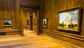 Sala da galeria no National Gallery da arte, Washington, C.C. Fotos de Stock Royalty Free