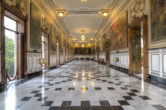 Sala da história no palácio do governo em Merida, México Imagem de Stock Royalty Free