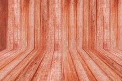 Sala da madeira de Brown ilustração royalty free