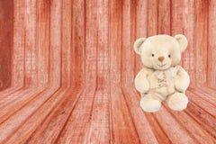 Sala da madeira de Brown ilustração stock