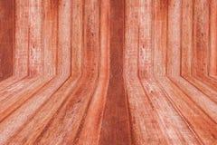 Sala da madeira de Brown foto de stock