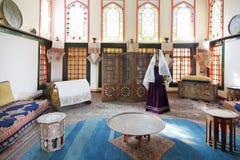 Sala da moradia do harém no palácio de Khan no palácio de Khan, Crimeia Imagens de Stock Royalty Free