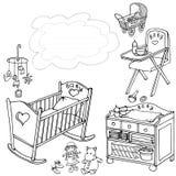 Sala 90 90 da nuvem do bebê Imagens de Stock Royalty Free