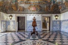 Sala da Portaria, atrio barrocco sul Mosteiro de Sao Vicente de Fora Monastery fotografia stock