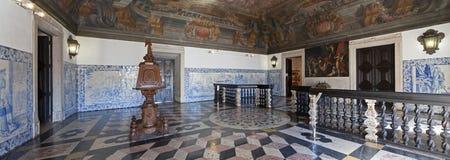 Sala da Portaria den barocka farstun på Mosteiro de Sao Vicente de Fora Monastery Arkivbilder