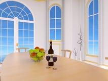 Sala da pranzo royalty illustrazione gratis