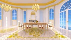 Sala da pranzo illustrazione vettoriale