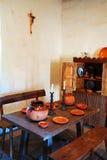 Sala da pranzo dei monaci, missione San Juan Capistrano Fotografia Stock Libera da Diritti