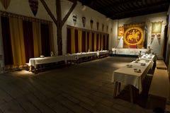 Sala da pranzo dei re del castello di Dover Fotografie Stock