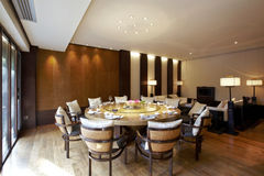 Sala da pranzo del ristorante del giardino Fotografie Stock Libere da Diritti