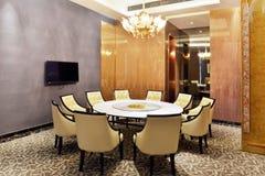 Sala da pranzo del ristorante dell'hotel fotografia stock