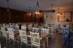 Sala da pranzo del ristorante della famiglia Fotografia Stock