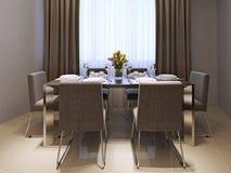 Sala da pranzo della cucina nello stile moderno illustrazione vettoriale