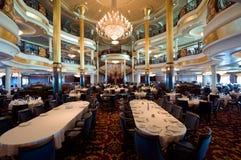 Sala da pranzo della nave da crociera Fotografia Stock