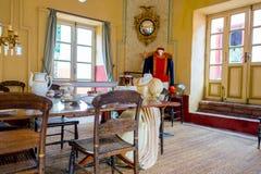 Sala da pranzo dentro il museo Quinta di Simon Bolivar Immagine Stock Libera da Diritti