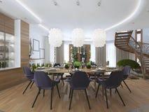 Sala da pranzo di lusso in uno stile contemporaneo Immagini Stock