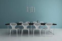 Sala da pranzo di progettazione moderna | Architettura interna Immagini Stock Libere da Diritti