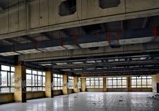 sala da pranzo di una fabbrica in disuso Fotografia Stock Libera da Diritti