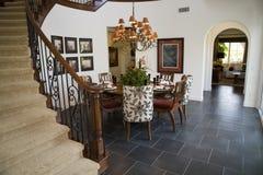 Sala da pranzo domestica di lusso. Immagini Stock Libere da Diritti
