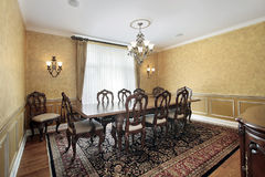 Sala da pranzo elegante Immagini Stock