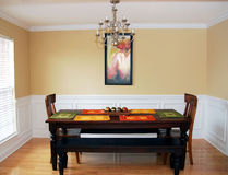 Sala da pranzo elegante semplice Fotografia Stock Libera da Diritti