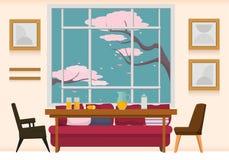 Sala da pranzo interna fotografie stock libere da diritti