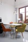 Sala da pranzo moderna Fotografia Stock