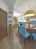 Sala da pranzo moderna della cucina nello stile del kitsch Fotografia Stock