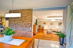 Sala da pranzo moderna elegante Immagini Stock Libere da Diritti