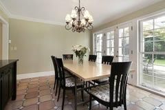 Sala da pranzo nella casa di lusso Fotografie Stock