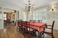 Sala da pranzo nella casa di lusso Fotografie Stock Libere da Diritti