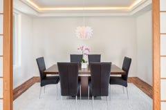 Sala da pranzo nella nuova casa Fotografie Stock Libere da Diritti