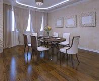 Sala da pranzo nello stile moderno Immagini Stock