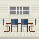 Sala da pranzo piana dell'interno di progettazione Fotografie Stock