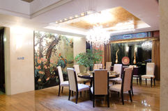 Sala da pranzo, stile cinese moderno Fotografia Stock